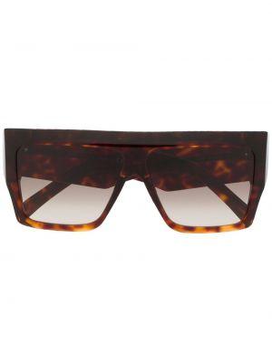 Прямые муслиновые коричневые солнцезащитные очки квадратные Céline Eyewear