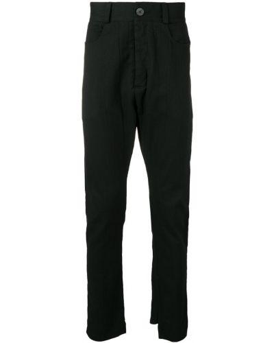 Черные брюки с поясом на пуговицах 10sei0otto