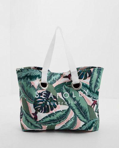 Зеленая пляжная сумка Seafolly Australia