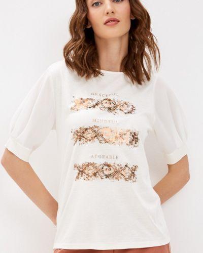 Бежевая футболка с короткими рукавами Betty And Co