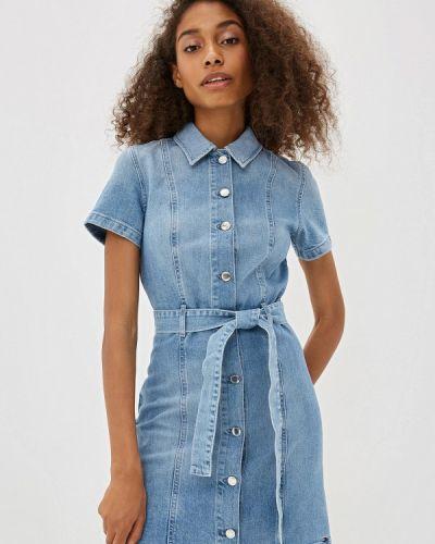 Джинсовое платье осеннее синее Tommy Hilfiger