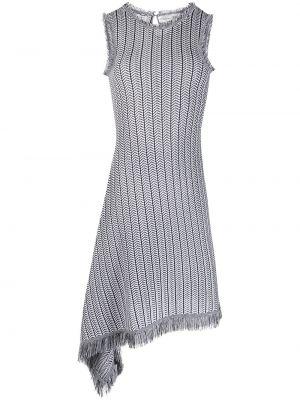 Платье с бахромой - черное Oscar De La Renta