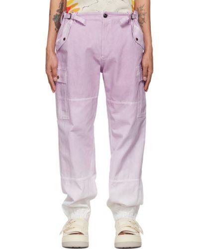 Белые брюки карго с карманами с манжетами Faith Connexion