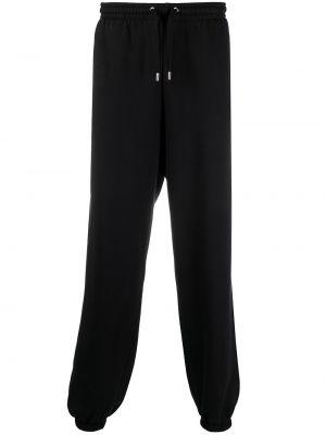 Хлопковые черные спортивные брюки с поясом Mackage