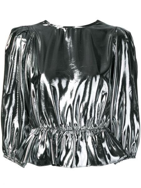 Шелковая блузка с запахом с вырезом Isabel Marant