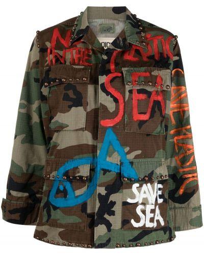 Хлопковая коричневая куртка милитари P.a.r.o.s.h.