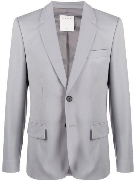 Серый шерстяной костюм Sandro Paris