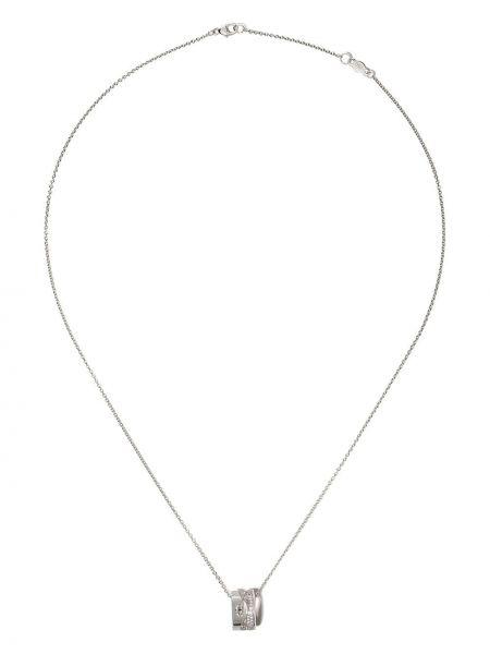 Biały złoty naszyjnik łańcuch z diamentem Georg Jensen