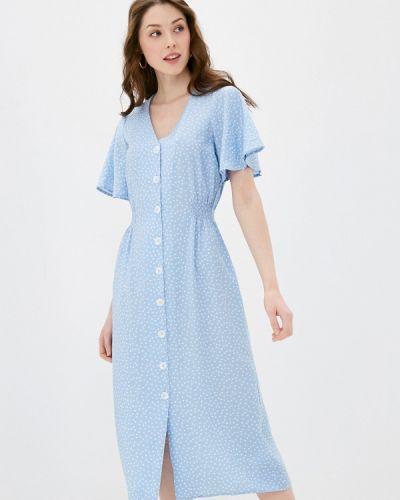 Прямое платье - голубое Zarina