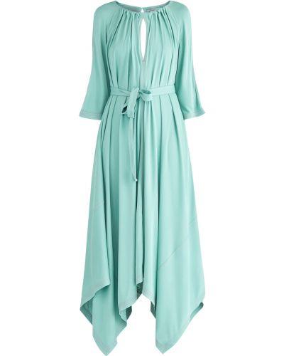 Платье миди с поясом приталенное Agnona