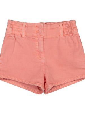 Джинсовые шорты - красные Stella Mccartney Kids