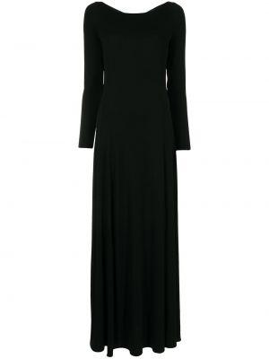 Черное платье из спандекса Emporio Armani
