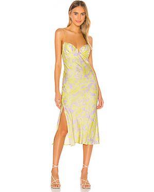 Платье миди шелковое с чашками Sun Becomes Her
