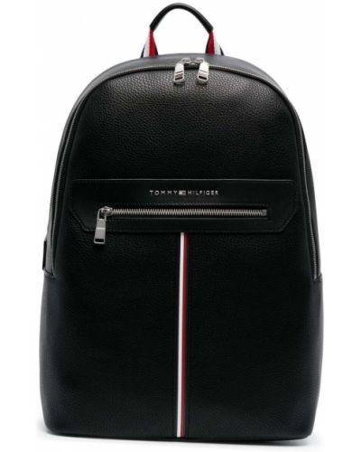 Черная сумка на плечо с карманами на бретелях Tommy Hilfiger