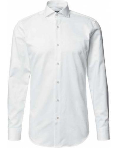 Biała koszula slim bawełniana Boss