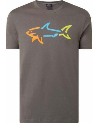 Beżowy t-shirt bawełniany Paul & Shark