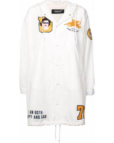 Белое пальто с капюшоном на пуговицах Undercover