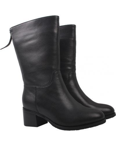 Кожаные сапоги - черные Visttaly