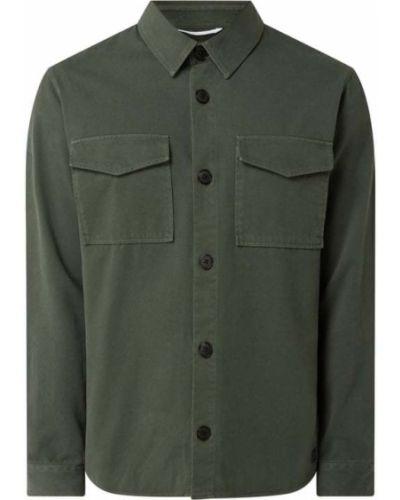 Zielona koszula bawełniana z długimi rękawami Nowadays