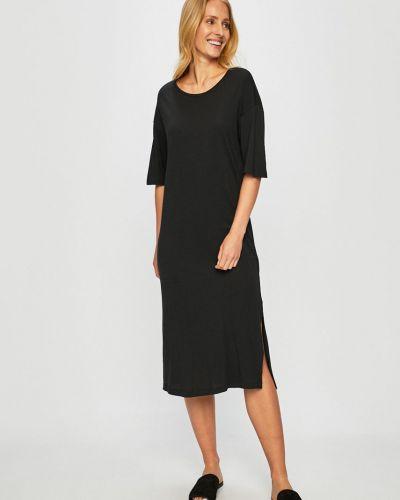 Платье с поясом свободного кроя с вырезом Noisy May