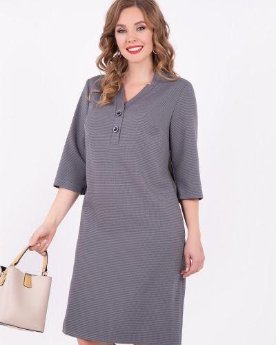 Приталенное платье с рукавами с вырезом с карманами со шлицей Diolche