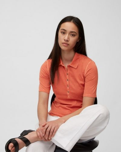 T-shirt bawełniana - pomarańczowa Marc O Polo