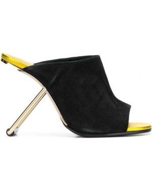 Черные мюли на каблуке Poiret