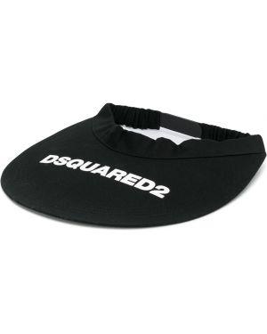 Daszek czarny z logo Dsquared2