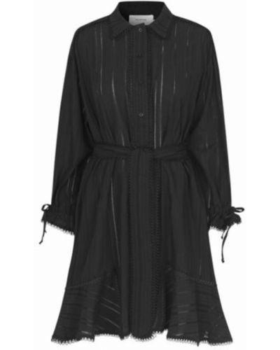 Czarna sukienka zapinane na guziki Munthe
