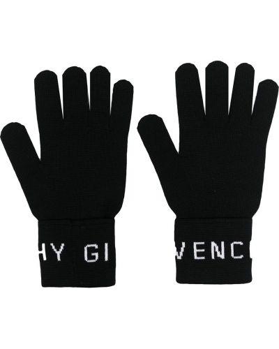 Czarne rękawiczki wełniane Givenchy