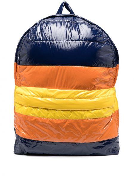Niebieski plecak z nylonu oversize K-way R&d