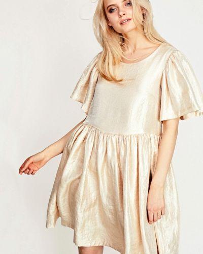 Вечернее платье осеннее бежевое Sultanna Frantsuzova