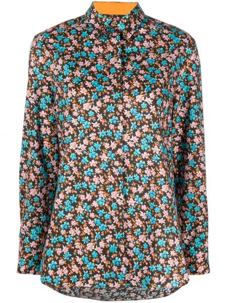 Шелковая классическая рубашка с длинными рукавами с воротником Paul Smith
