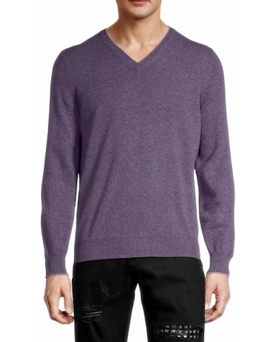 Кашемировый свитер - фиолетовый Brunello Cucinelli