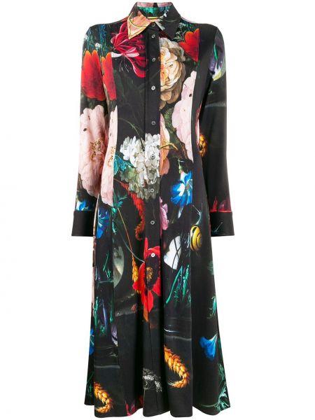 Прямое приталенное классическое платье макси с воротником Paul Smith