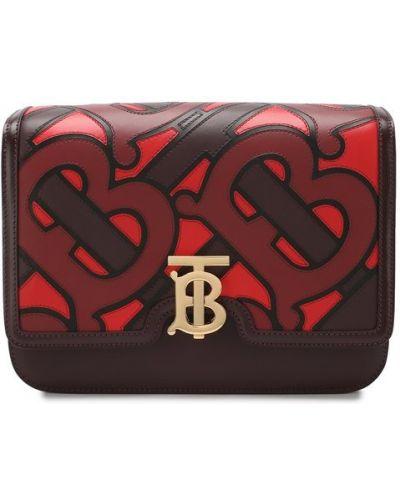 Кожаная сумка бордовый Burberry