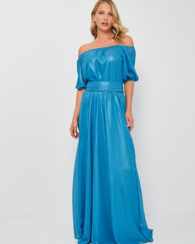 Платье свободного кроя - голубое Niktan