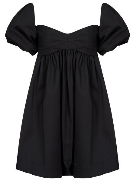 Хлопковое черное платье на молнии Pinko