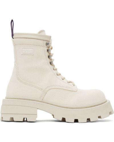 Кожаные ботинки на каблуке на платформе Eytys
