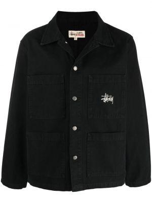Хлопковая рубашка - черная Stussy