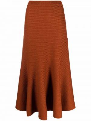 Pomarańczowa długa spódnica Gabriela Hearst