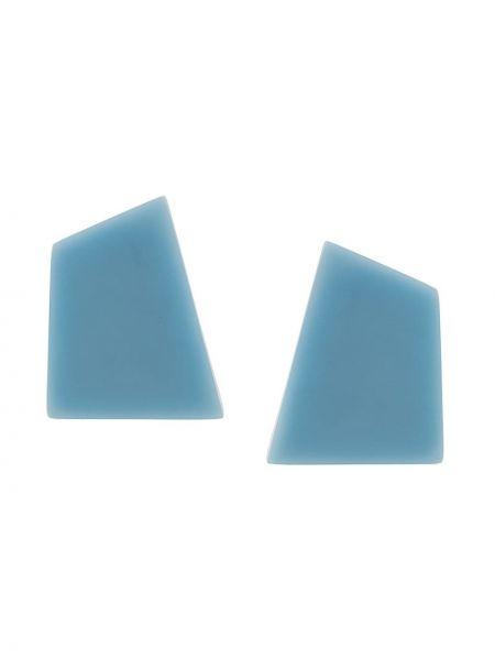 Niebieskie kolczyki sztyfty Monies