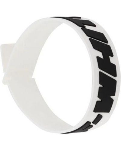 Biała bransoletka Off-white