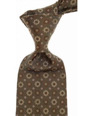 Zielony krawat z jedwabiu John Varvatos