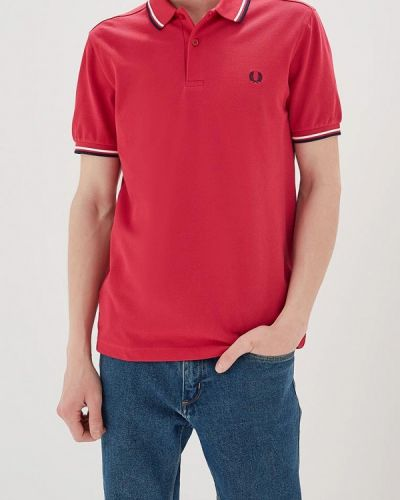 Розовое поло Fred Perry