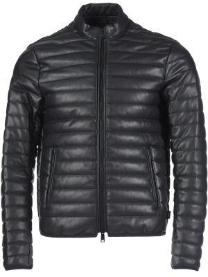 Куртка из экокожи - черная Emporio Armani
