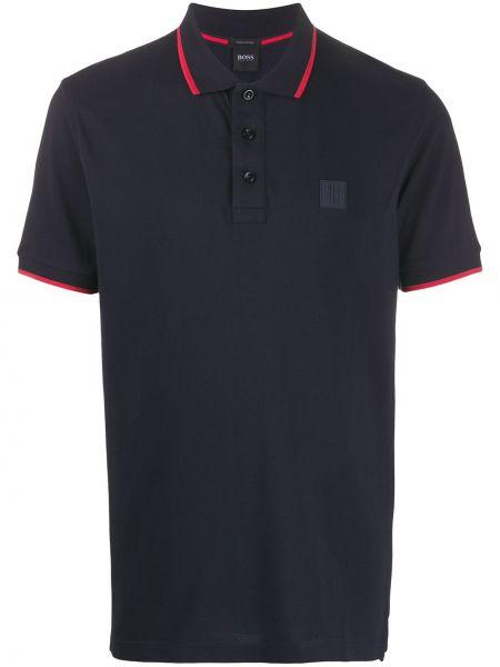 Koszula krótkie z krótkim rękawem w paski z logo Boss