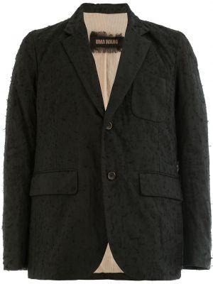 Классический шерстяной черный однобортный классический пиджак Uma Wang