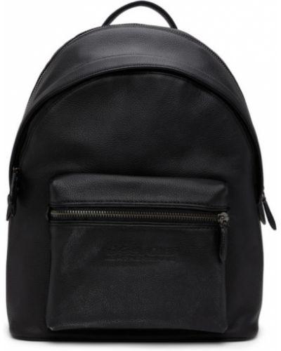 С ремешком черный рюкзак из натуральной кожи Coach 1941