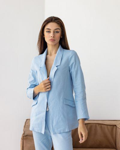 Льняной пиджак - голубой Wear Me